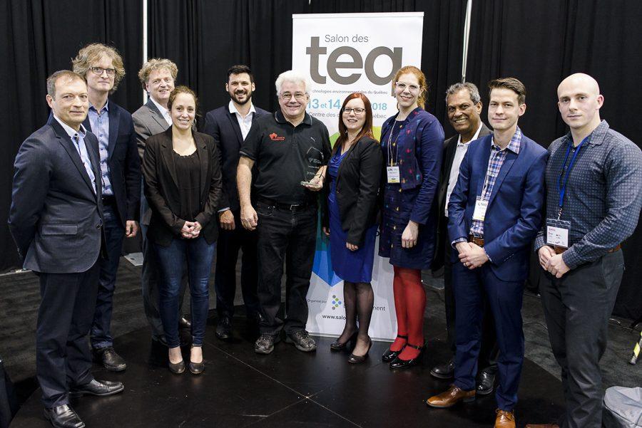 Waste Robotics, une entreprise spécialisée dans le tri robotisé des matières résiduelles, remporte le Défi des Startups 2018 du Salon des technologies en environnement du Québec