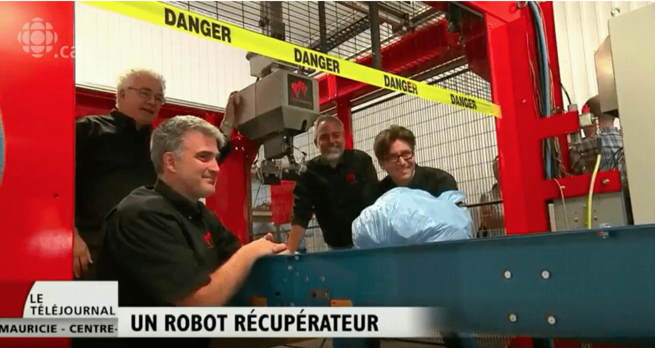 Waste Robotics et ses robots intelligents de tri des matières résiduelles font l'objet d'un reportage à Radio-Canada